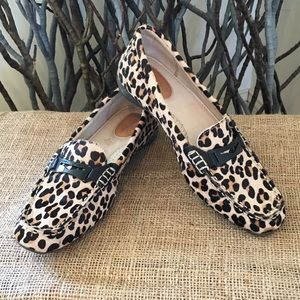 Sperry Top-Sider Leopard Print Calf Hair Loafers
